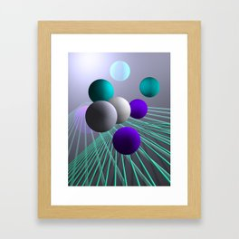 converging lines and balls -4- Framed Art Print