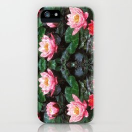 Mirrored Water Lilies iPhone Case