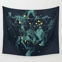 "diablo Wall Tapestries featuring Gravity Levels ""Space Bird"" by Sitchko Igor"