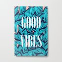 Good Vibes Blue Leaves by cadinera