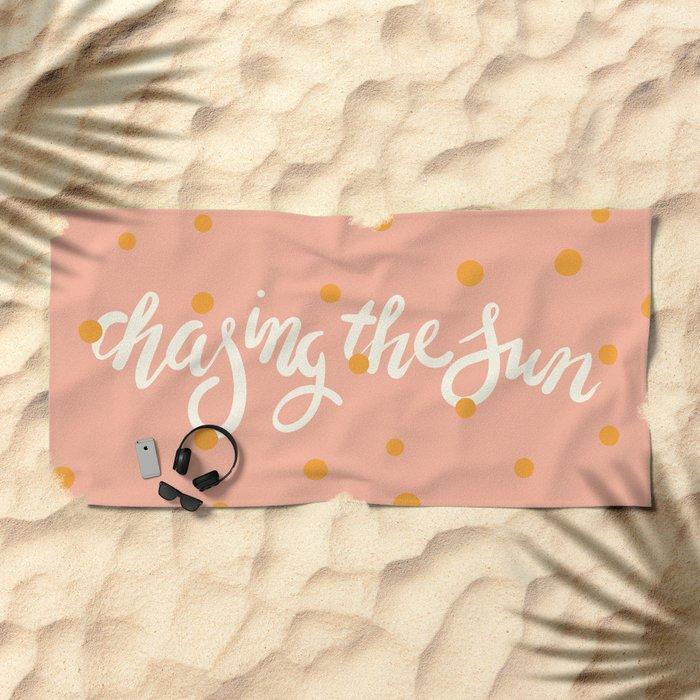 Chasing The Sun Beach Towel