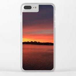 Chesapeake Sunset Clear iPhone Case