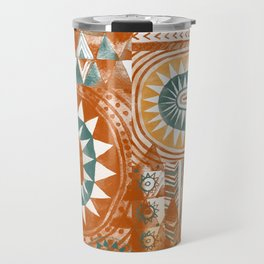 Tribal Bohemian Mosaic Travel Mug