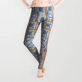 Vintage Art Nouveau Tiles Leggings