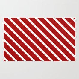 Juicy Cranberry Diagonal Stripes Rug