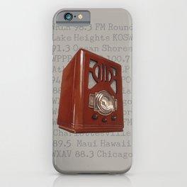 Vintage Tombstone Radio iPhone Case