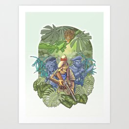 The Continuing Story of Bungalow Bill Art Print