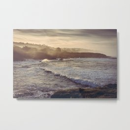 Cambria California Coastline Metal Print