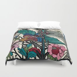 """Bird of Paradise"" by Margaret Preston Duvet Cover"