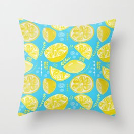 Lemon Burst Throw Pillow