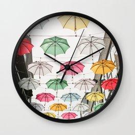 Ireland Dublin | Colorful street photography | Umbrella's Wall Clock