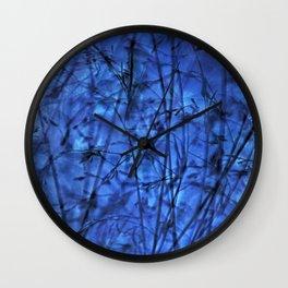 Indigo Plantscape Wall Clock