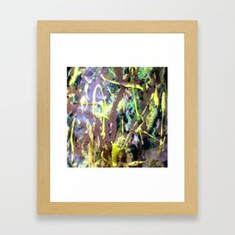 Zoom sur conque chocolat Framed Art Print