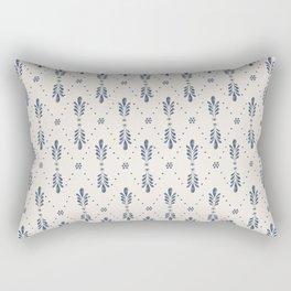 Indigo Meadow Rectangular Pillow