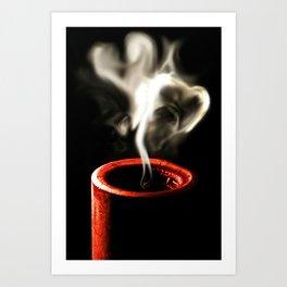 Love is like a flame Art Print