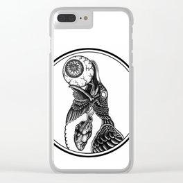 Muninn (Raven of Memory) Clear iPhone Case