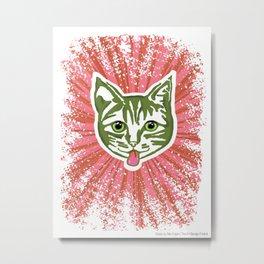 Razzle Dazzle Mollycat Metal Print