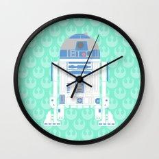 R2-D2 on Mint Rebellion Wall Clock