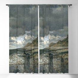 Claude Monet - La Pointe de la Hève at Low Tide Blackout Curtain