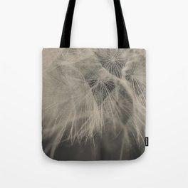 Black & White Dandelion Tote Bag