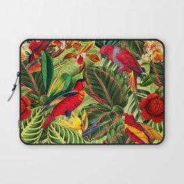 Vintage & Shabby Chic - Midnight Tropical Flower Garden III Laptop Sleeve