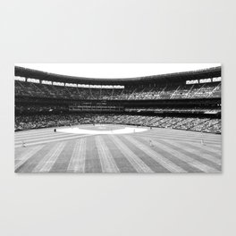 Safeco Field in Seattle Washington - Mariners baseball stadium in black and white Canvas Print
