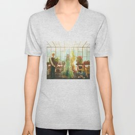 Watering the plants Unisex V-Neck