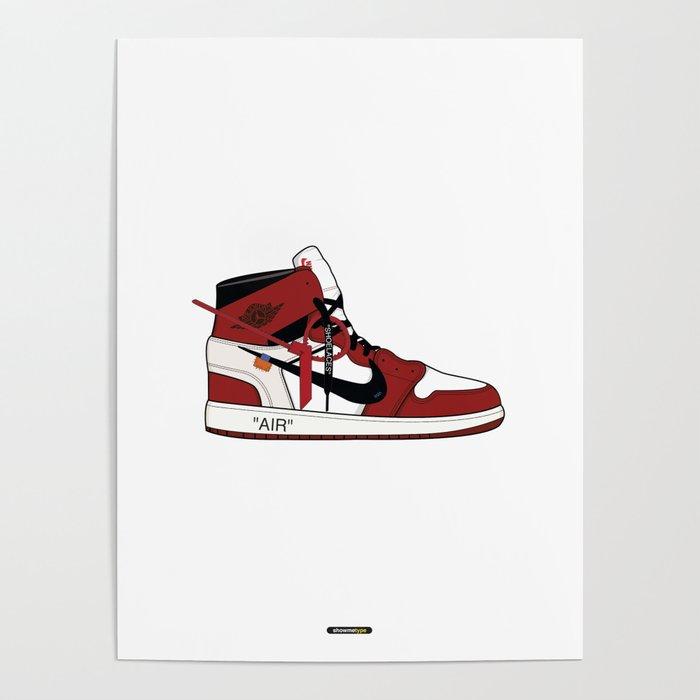 Jordan I x Off White Poster by