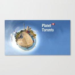 Planet Toronto Wall Paper Canvas Print