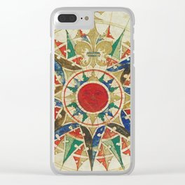 Vintage Compass Rose Diagram (1502) Clear iPhone Case