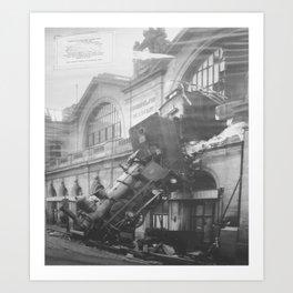 The Gare Montparnasse Train Accident - 1896 - France Art Print