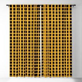 Black Honey Grid Blackout Curtain