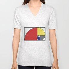 Mondrian vs Fibonacci Unisex V-Neck