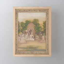 A Gathering of Holy Men of Different Faiths Framed Mini Art Print