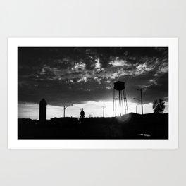 The Mill (Black & White) Art Print