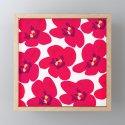 Red Retro Flowers #decor #society6 #buyart by pivivikstrm