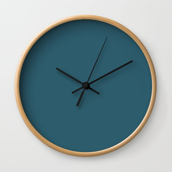 Teal The World (Blue) Wall Clock