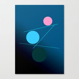 The 3 dots, power game 8 Canvas Print
