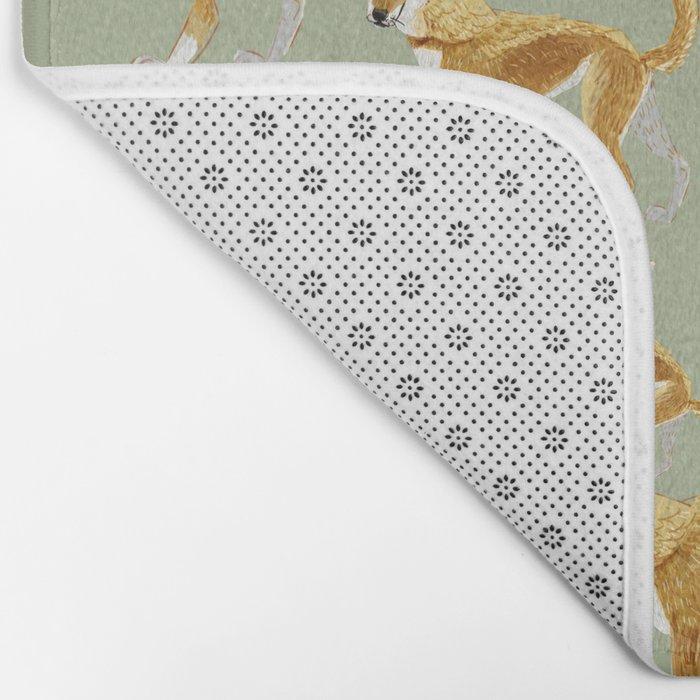 Ginger dingo pattern Bath Mat
