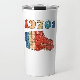 70s Roller Skates Disco Derby Retro Travel Mug
