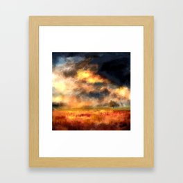 Painted Landscape Framed Art Print