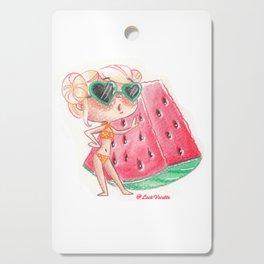 Miss pastèque Cutting Board