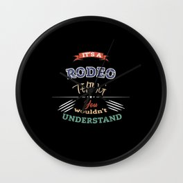 Its a RODEO thing RODEO Vintage Wall Clock