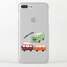 Van Life Camping Traveling Art Clear iPhone Case