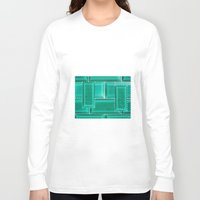 architecture Long Sleeve T-shirts featuring ARCHITECTURE by BIGEHIBI