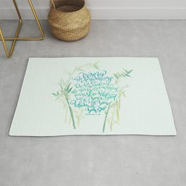 Be Strong and Courageous - Joshua 1:9 - bamboo Rug