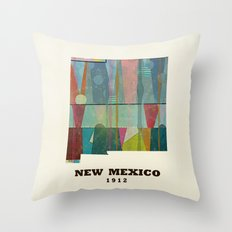 new mexico map modern Throw Pillow