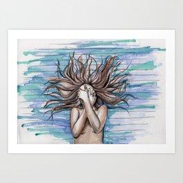 Medusa Underwater Art Print