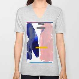 Untitled (Abstract Composition 2017008) Unisex V-Neck