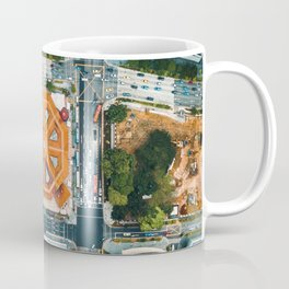 Aerial Cityscape View (Color) Coffee Mug